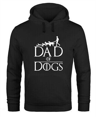 Hoodie Herren Hunde Motiv Spruch Dad of Dogs lustiges Gassi Outfit