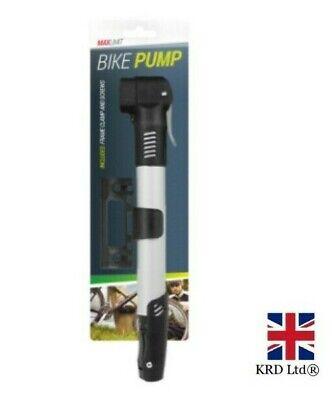 Bicycle Air Pump Mini Portable Lightweight Tyre Inflator Cycle Mountain Bike UK