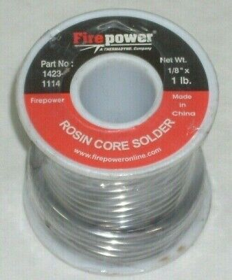 Victor Firepower 1423-1114 Rosin Core Solder 18 Diameter 1 Lb Roll