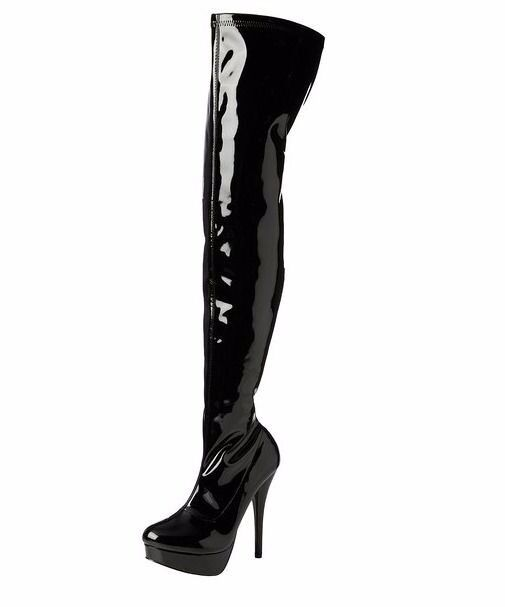 Mens/PVC/Patent/Thigh High Boots/TV/CD/Domme/Kinky Party Boots ...