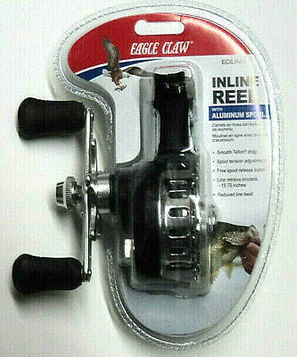 for Ice Fishing #ECILIR Eagle Claw Inline Ice Reel with Smooth Teflon Drag