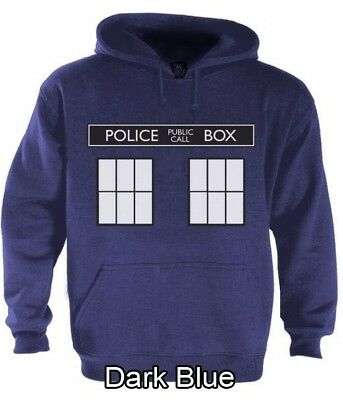 POLICE BOX dr doctor show series Hoodie TARDIS who Easy Halloween Costume 1962](Tardis Halloween Costume)