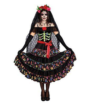 Dreamgirl Lady Of The Dead Dia De Los Muertos Womens Halloween Costume 10680](Lady Of The Dead Costume)
