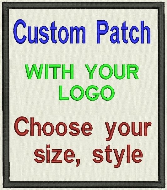 """Custom Embroidered Patch, badge 2 """"x 2"""" with your logo or image"""