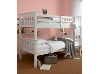 Solid, white, bunk bed, ortho, Sprung, Mattress,