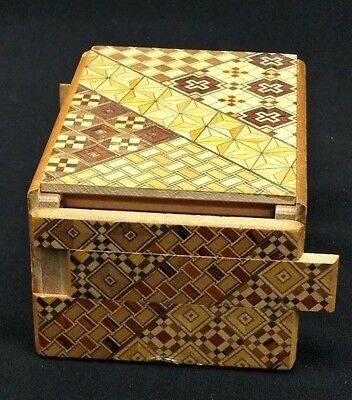 Nice Traditional Japanese Yosegi Hakone Wooden Secret Puzzle Box