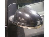 VW Sharan N/S Wing Mirror In Black (2005)