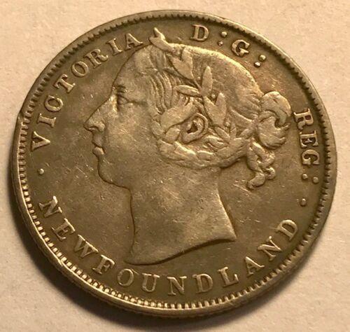 NEWFOUNDLAND - Queen Victoria - 20 Cents - 1888 - Very Fine - KM-4 - Very Fine