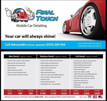 Final Touch Mobile Car Detailing West Perth Perth City Preview