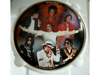 Collectors Plate king of pop Michael Jackson, 22ct gold Surround, £16 ...