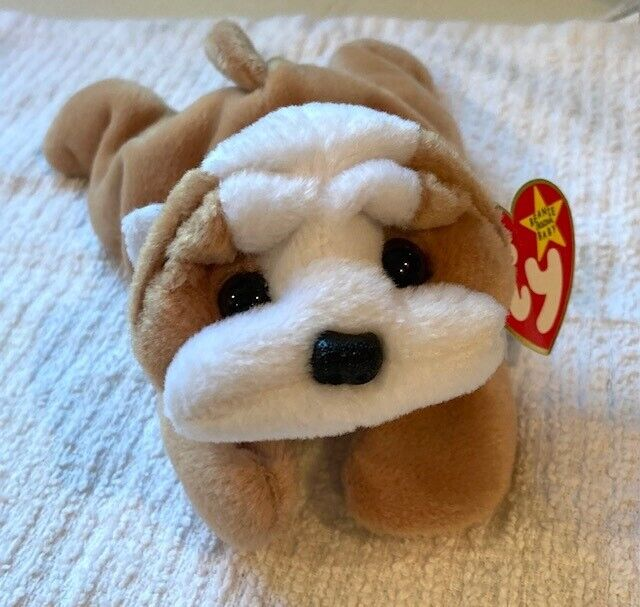 TY Beanie Babies WRINKLES The Bulldog Dog - 1996 - A MUST HAVE GIFT  - $3.00