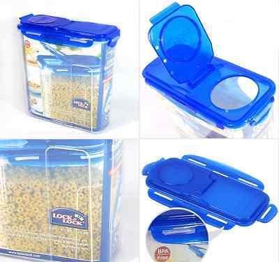 BPA Free Lock & Lock Cereal Dispenser 3.9L Food Snack Storage Plastic Container
