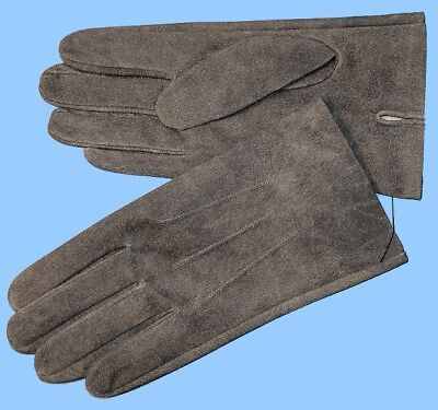 NEW MENS size 8 or Small GRANITE-GRAY PIG LEATHER UNLINED GLOVES shade 10530