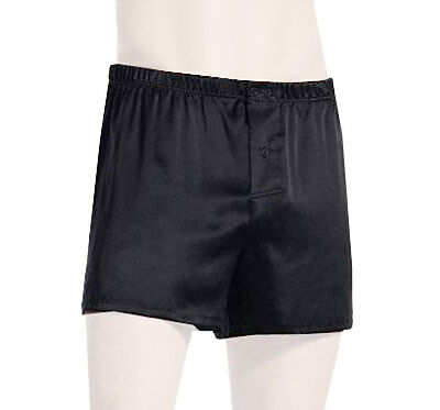 OLAF BENZ Boxershorts L schwarz SEIDE 130111 - Schwarze Seide Boxer Shorts