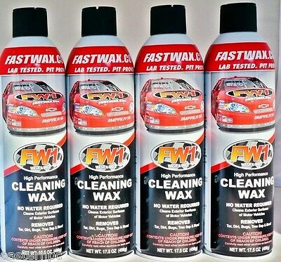 4 Cans Fw1 Fastwax Waterless Wash And Car Wax Removes Dirt  Adds Shine