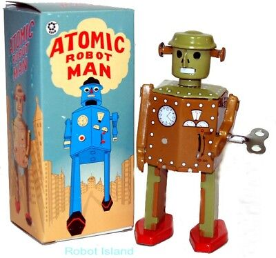 Atomic Robot Man Tin Toy Windup 1940's Design