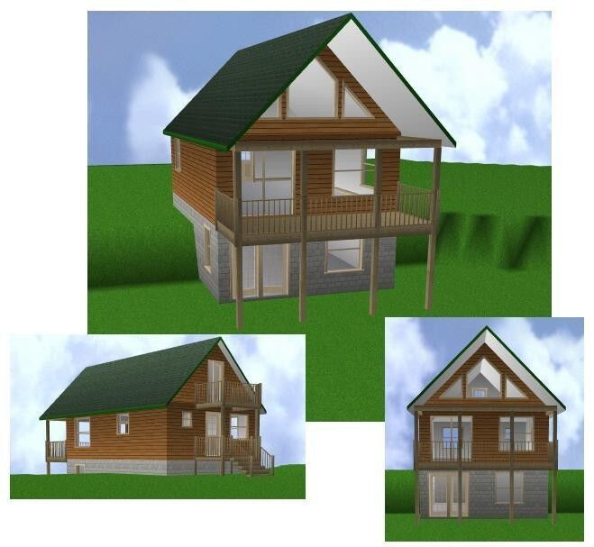 20x30 cabin w loft plans package blueprints material list for Home hardware cottage packages