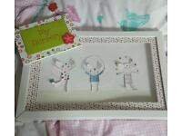 Nursery sign and picture