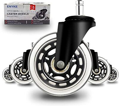 3 Office Chair Caster Wheels Replacement Set Of 5 Premium Chair Casters S