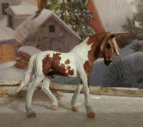 CM Custom Collecta by Breyer Mini Andalusian Stallion 1:64 scale Model Horse