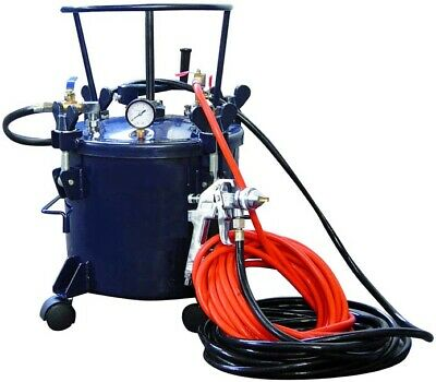 Air Compressor Pressure Pot - 5 Gallons - Tank - Spray Gun - Hoses - 80 Psi Max