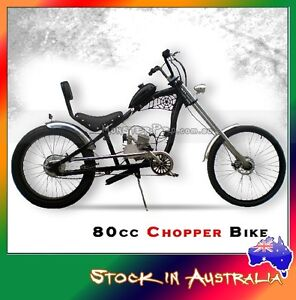 Motorised 2 Stroke Chopper Push Bike Bicycle w' 80cc Engine/Motor kit Full Size