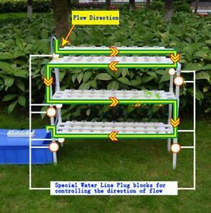 1 Hole Hydroponic Site Grow Kit Flow Deep Water Garden#141095