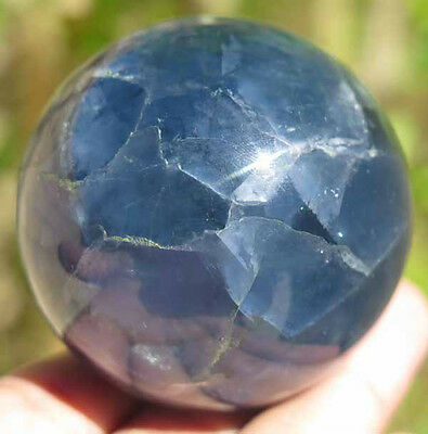 56mm 9.1OZ Natural Rainbows FLUORITE Crystal Sphere Ball Healing