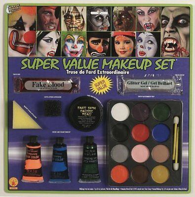 Super Value Makeup Kit Halloween costume Accessory Clown Vampire