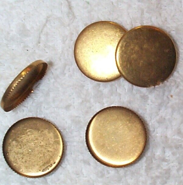 VINTAGE ROUND SAWTOOTH EDGE 18MM BRASS SETTINGS MOUNTINGS 12 PCS