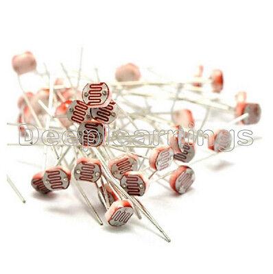50pcs Photo Light Sensitive Resistor Photoresistor Optoresistor 5mm Gl5528