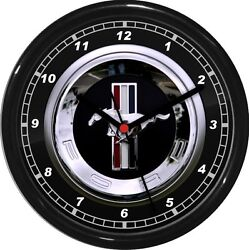 mustang Wall Clock 10 Garage Work Shop Gift  Father's Day Man Cave