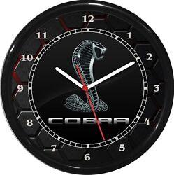 Cobra Mustang Wall Clock Garage Work Shop Gift Man Cave