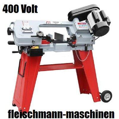 Holzmann Metallbandsäge Bügelsägen BS115 + Fahreinrichtung + Untergestell 400 V