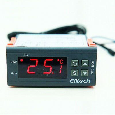 Stc-1000 Temperature Controller Stc 1000 Thermostat Aquarium Ntc Sensor 220v