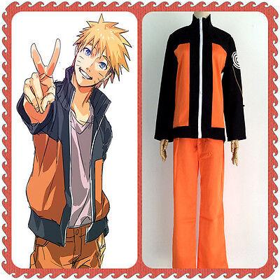 Naruto Shippuden Uzumaki Hokage Halloween Cosplay Costume Suit Jacket and Pants - Naruto Costums