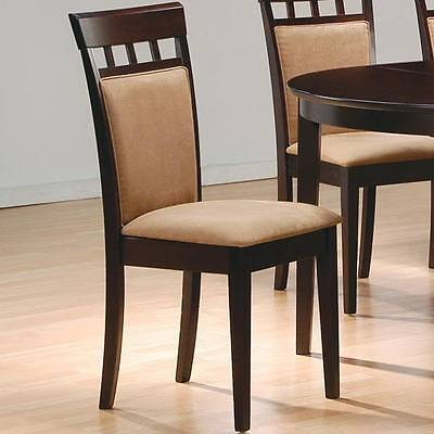 Cappuccino Finish Cushion Back Dining Side Chairs by Coaster 100773 - Set of 2 for sale  Shipping to Canada