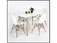 Eiffel Dining Table and 4 Chairs