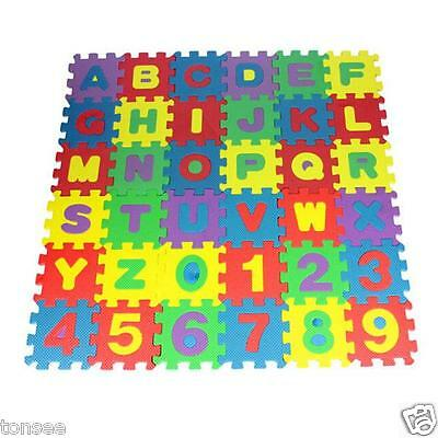 36PCS Baby Kids Room Alphabet Number Puzzle Foam Playing Floor Mat Toy Gift