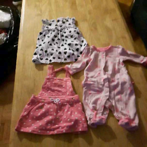 Baby Girl Clothes - 0 to 6 months