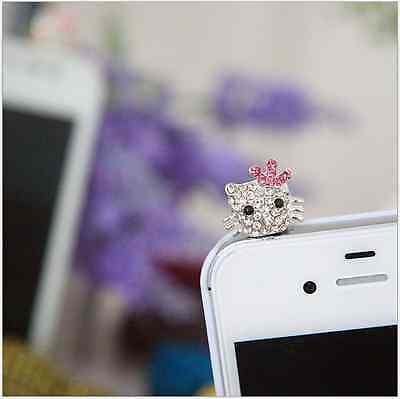 Cat Hello Kitty Kitten Anti Dust Plug Cover Charm for Iphone/Android 3.5mm