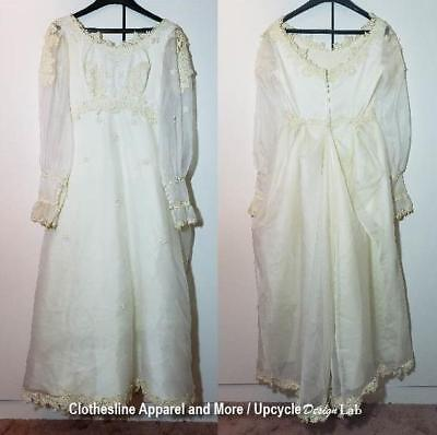 Wedding Dress Vintage Styling Great for Halloween Costume Small Medium - Used Wedding Dress For Halloween