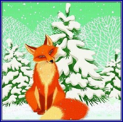 30 Custom Winter Fox Personalized Address Labels