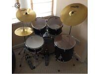 Gretsch Blackhawk 5 piece drum kit