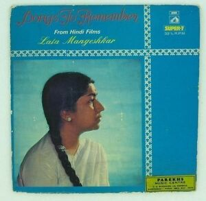 LATA MANGESHKAR Songs To Remember From Hindi Films  RARE EP Bollywood India 1975