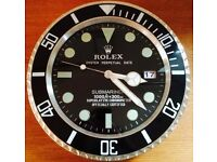 Rolex Submariner wall clock brand new few colours available