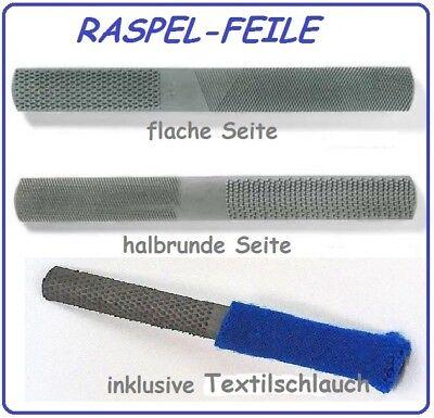 Specksteinfeile halbrund mit Textilschlauch ( Raspel / Feile )