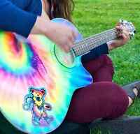 TIE DYE ACOUSTIC-ELECTRIC GUITAR!!!!
