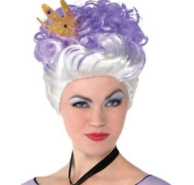 Brand new in Package, Womens Ursula Wig, Little Mermaid, Silver & Violet, Purple](Costume Ursula)