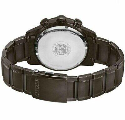 Citizen EcoDrive Mens Primo Chronograph Gray Bracelet 45mm Watch CA068758E